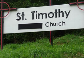 St. Timothy's Sign
