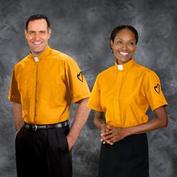 orange clergy shirts