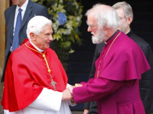 Pope Benedict and Archbishop of Canterbury Rowan Williams