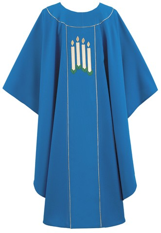 Advent candle chasuble