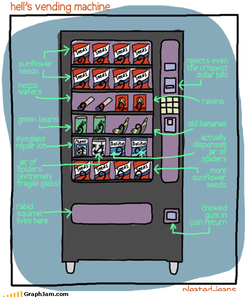 Hell&#039;s vending machine