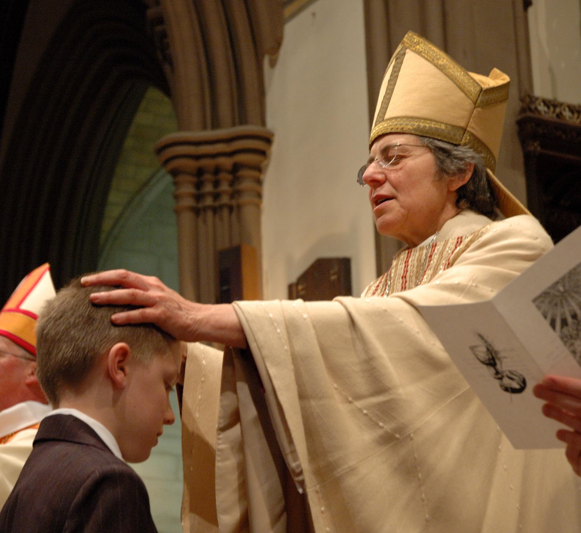 Bishop confirming