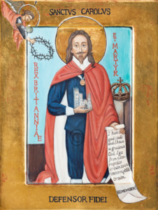 Charles king and martyr icon