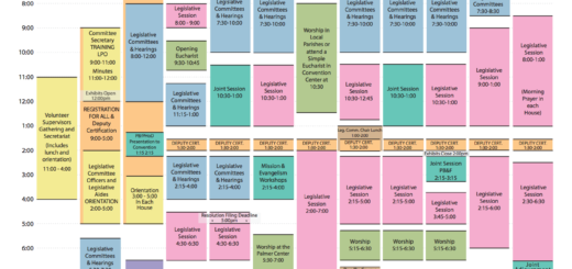 General Convention 2018 schedule