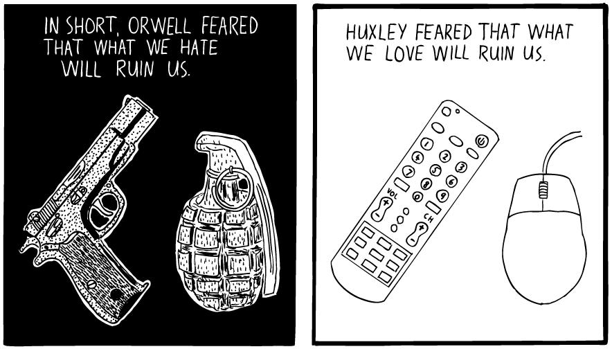 huxley-orwell