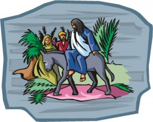 Palm Sunday Jesus on Donkey