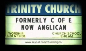 Anglican Church Sign
