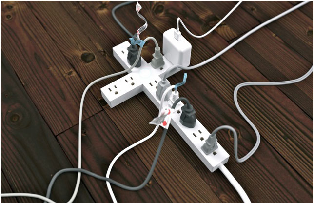 Cruciform power strip