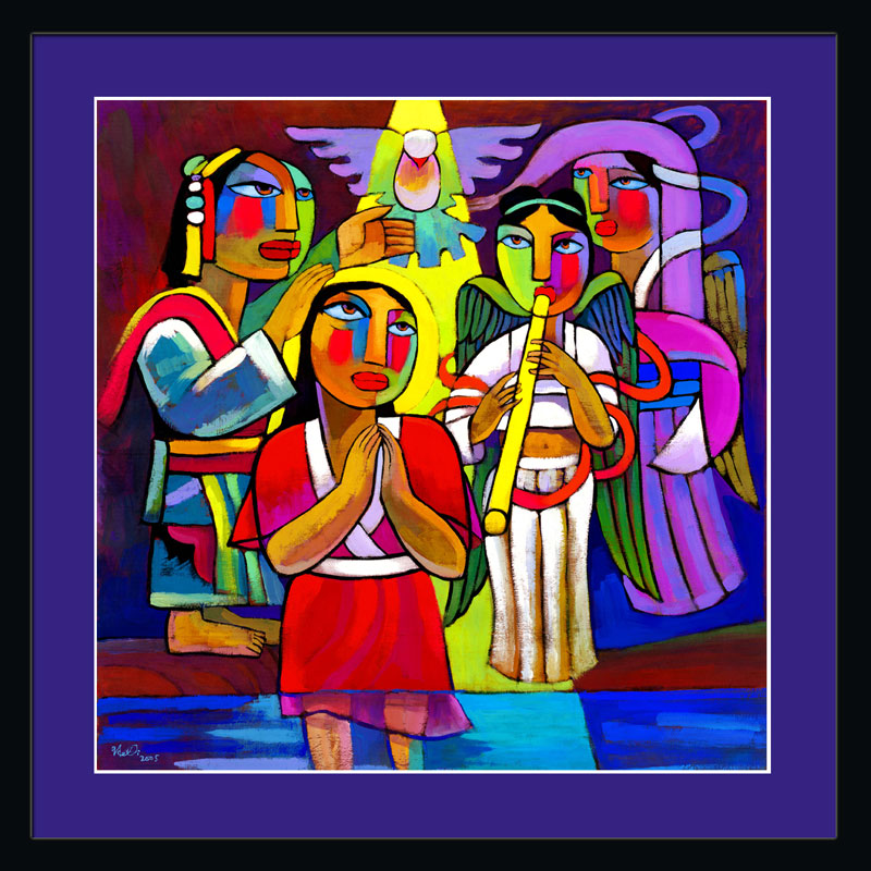Baptism of Jesus by He Qi