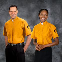 orange clergy shirts