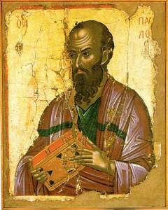 Saint Paul in Holy Stavronikita Monastery