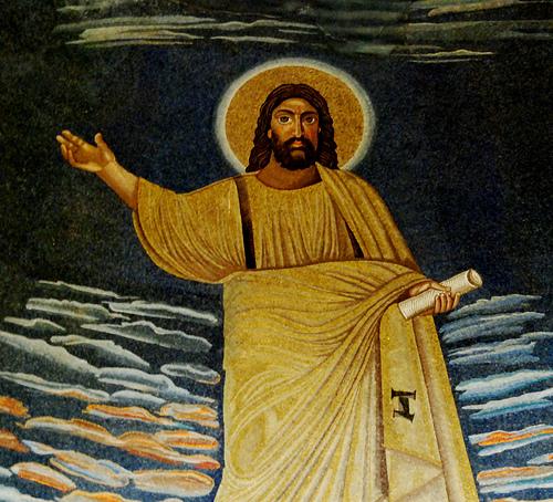 6th c. mosaic. Santi Cosma e Damiano, Roma.