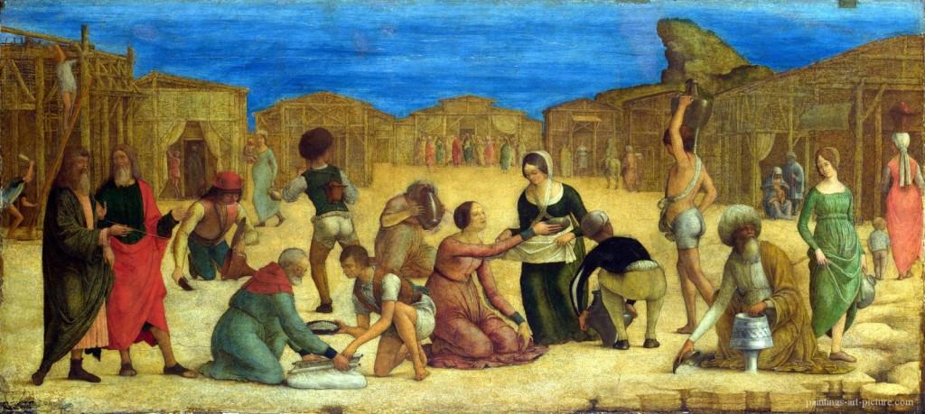 ROBERTI-Ercole-de-The-Israelites-gathering-Manna