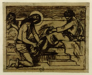 "Sketch for ""Jesus Washing Peter's Feet"" circa 1851 Ford Madox Brown 1821-1893 via Tate"