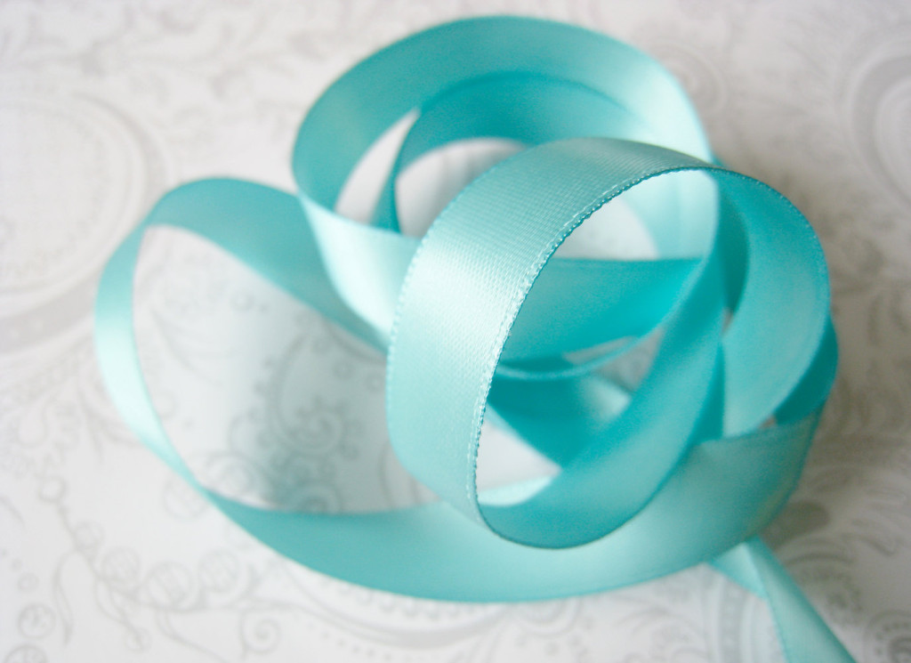 tangled blue ribbon