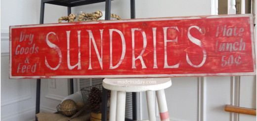 sundries sign