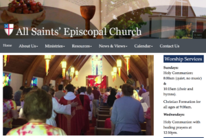 All Saints Richland website