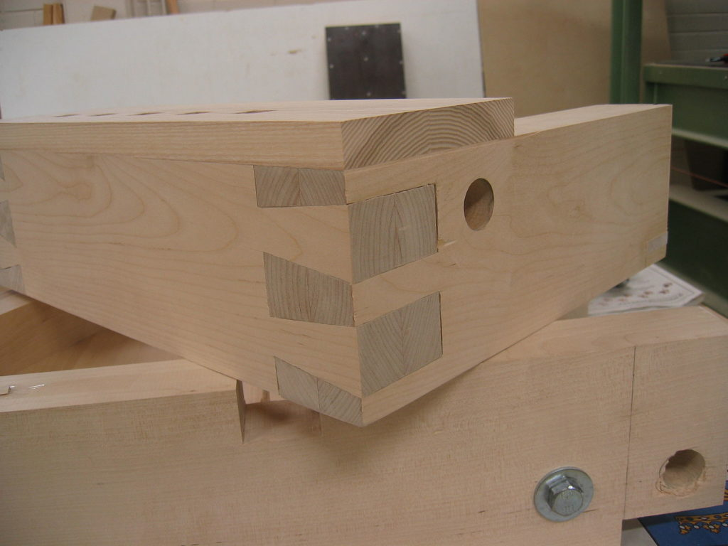 Finished dovetail joint